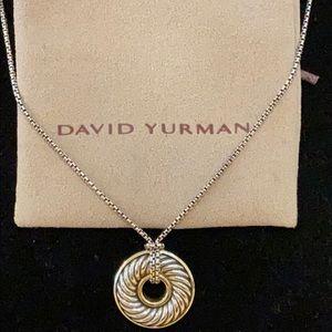David Yurman SS/18K Vintage Disc Donut Necklace